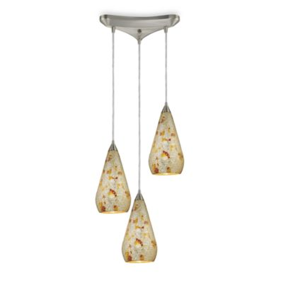 ELK Lighting Staggered Pendant Trio with Confetti Crackle Finish