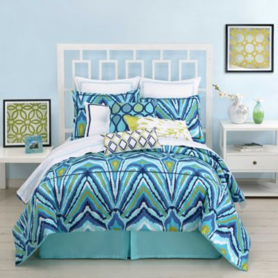 Trina Turk® Blue Peacock Standard Pillow Sham