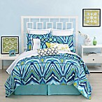 Trina Turk® Blue Peacock Duvet Cover, 100% Cotton, 400 Thread Count