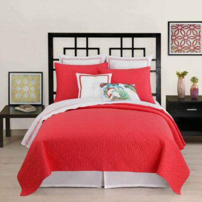 Trina Turk Santorini Twin Coverlet in Coral