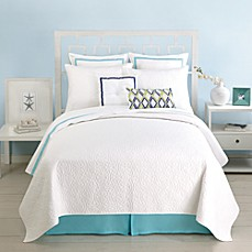 Trina Turk Santorini King Coverlet in White