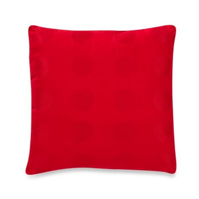 "notNeutral® Red Poppy 16"" Square Dot Toss Pillow"
