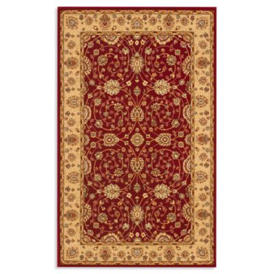 Safavieh Majesty 5-Foot 3-Inch x 7-Foot 6-Inch Room Size Rug in Red/Camel