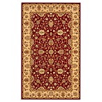 Safavieh Majesty 3-Foot 3-Inch x 5-Foot 3-Inch Accent Rug in Red/Camel