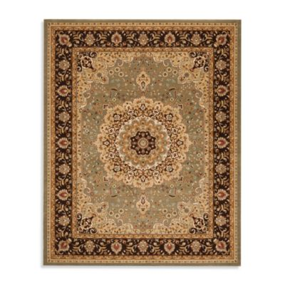 Safavieh Majesty 5-Foot 3-Inch x 7-Foot 6-Inch Room Size Rug in Sage/Brown