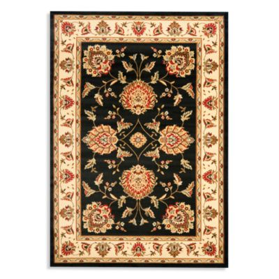 Safavieh Prescott 4-Foot x 6-Foot Accent Rug in Black/Ivory