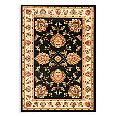 Safavieh Prescott 3-Foot 3-Inch x 5-Foot 3-Inch Accent Rug in Black/Ivory
