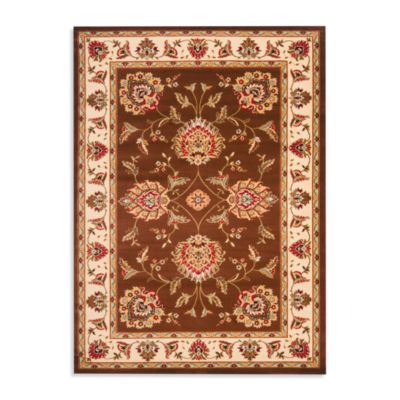 Safavieh Prescott Brown/Ivory 8-Foot 9-Inch x 12-Foot Room Size Rug