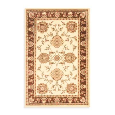 Safavieh Prescott Ivory/Brown 4-Foot x 6-Foot Accent Rug