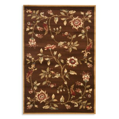 Safavieh Tobin 8-Foot 9-Inch x 12-Foot Room Size Rug in Brown/Multi