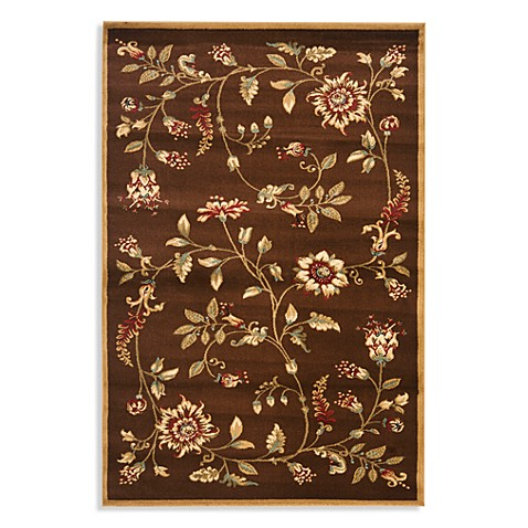 Safavieh Tobin Brown/Multi 6-Foot 7-Inch x 9-Foot 6-Inch Room Size Rug