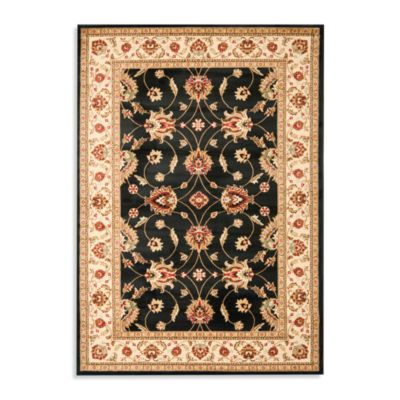Safavieh Vanity Black/Ivory 3-Foot 3-Inch x 5-Foot 3-Inch Accent Rug