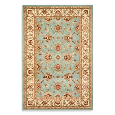 Safavieh Vanity Blue/Ivory 3-Foot 3-Inch x 5-Foot 3-Inch Accent Rug