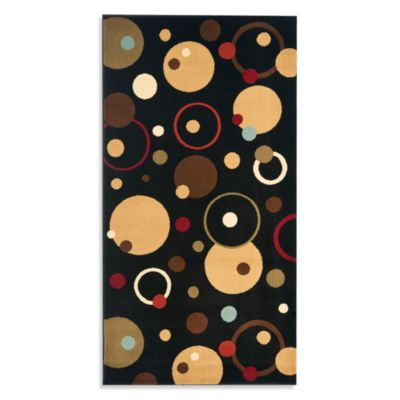 Safavieh Vera Black/Multi 6-Foot 7-Inch x 9-Foot 6-Inch Room Size Rug