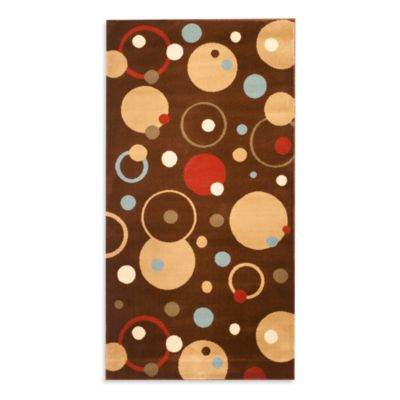 Safavieh Vera Brown/Multi 6-Foot 7-Inch x 9-Foot 6-Inch Room Size Rug