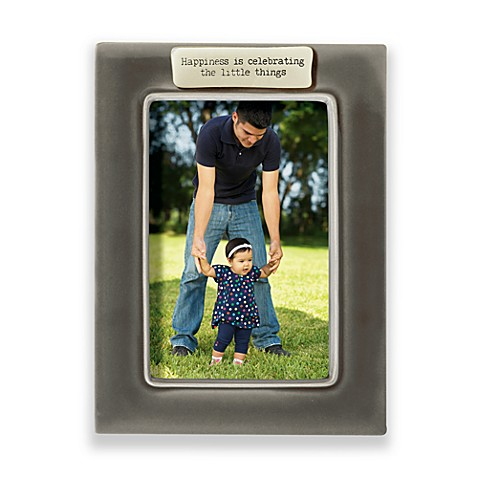 Happiness is Celebrating the Little Things 4-Inch x 6-Inch Frame