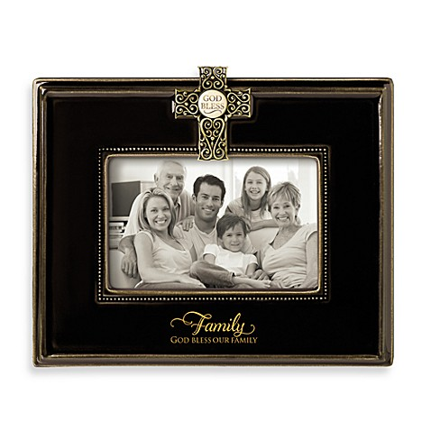 God Bless Our Family 4-Inch x 6-Inch Frame