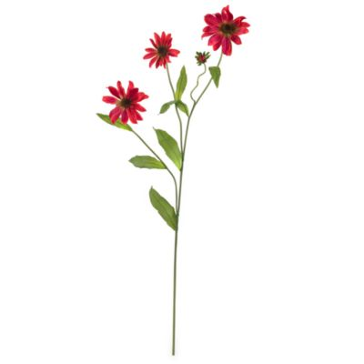 Nearly Natural Silk 28.5-Inch Long Red Cosmos Daisy Stems (Set of 12)