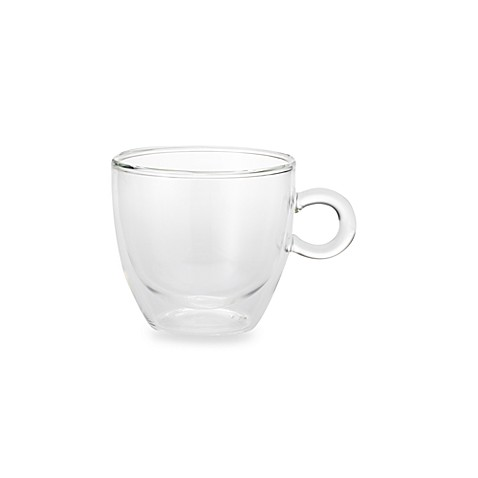 Classic Coffee & Tea 8-Ounce Double-Walled Glass Cups (Set of 2)