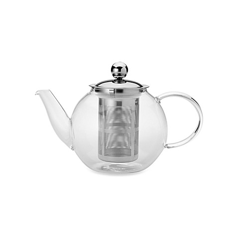 Classic Coffee & Tea Glass 28-Ounce Teapot