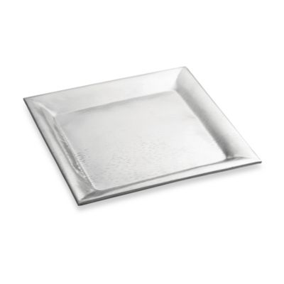 TableCraft® Remington Style Stainless Steel 16-Inch Square Tray