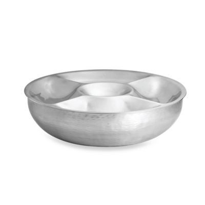 Remington Style Stainless Steel Round 2-Piece Double Wall Serving Set