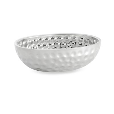 Bali Style Stainless Steel Oval Double Wall Bowl