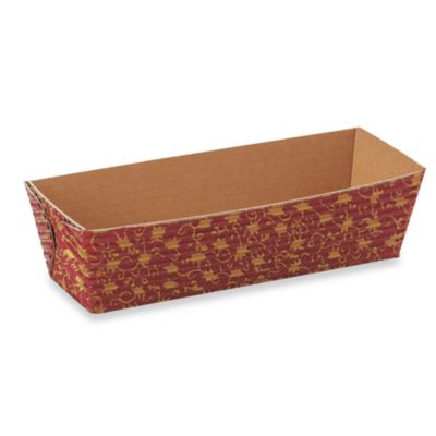 Rectangular Mini-Loaf Paper Baking Pans (Set of 12)
