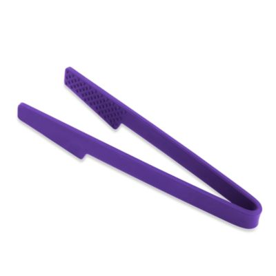 Kuhn Rikon Large Silicone Chef's Tongs in Purple