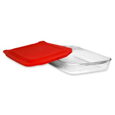 Pyrex Red Oblong Dish