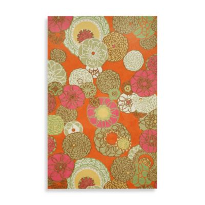 Trans-Ocean Ravella Disco 7-Foot 6-Inch x 9-Foot 6-Inch Room Size Rug in Orange