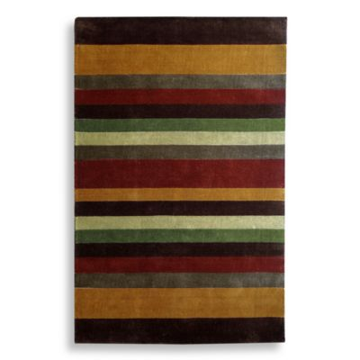 Multi Striped Handtufted 5-Foot x 8-Foot Rug