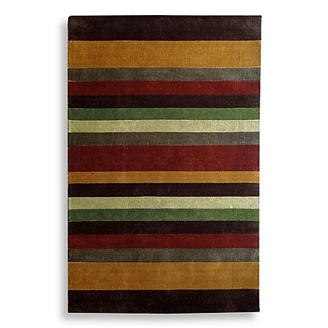 Multi Striped Handtufted 4' x 6' Rug - Red