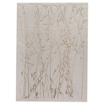 MAT Alfalfa 5-Foot 2-Inch x 7-Foot 6-Inch Accent Rug in White