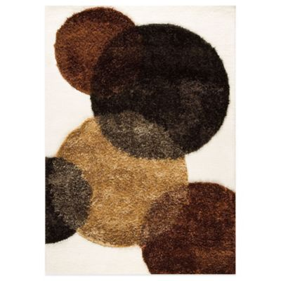 Circle of Life Hand-Tufted Rug in White/Brown