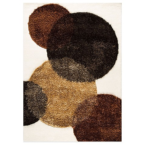 MAT Circle of Life Hand-Tufted Rug in White/Brown