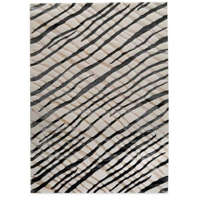 MAT Halcyon Contemporary 5-Foot 2-Inch x 7-Foot 6-Inch Rug in Black/Cream