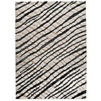 Halcyon Contemporary Rug in Black/Cream