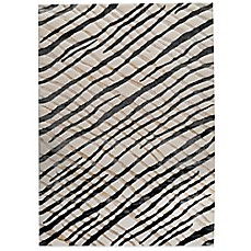 MAT Halcyon Contemporary Rug in Black/Cream