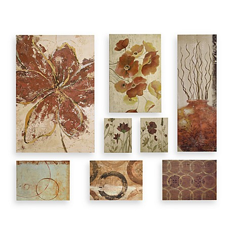 Decorator Solution Floral 8-Piece Wall Art Set