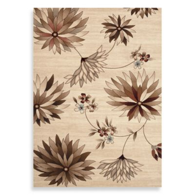 World Rug Gallery Elite Large Floral 48-Inch x 63-Inch Accent Rug