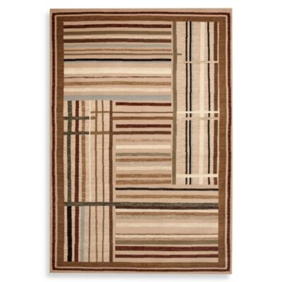 World Rug Gallery Elite Multi Stripe 48-Inch x 63-Inch Accent Rug