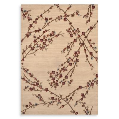 World Rug Gallery Elite Collection Branches 4-Foot x 5-Foot 3-Inch Accent Rug in Beige