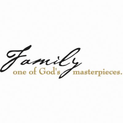 Family in One of God's Masterpieces Vinyl Wall Decal Set
