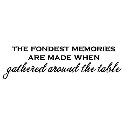 The Fondest Memories are Made Vinyl Wall Decal Set