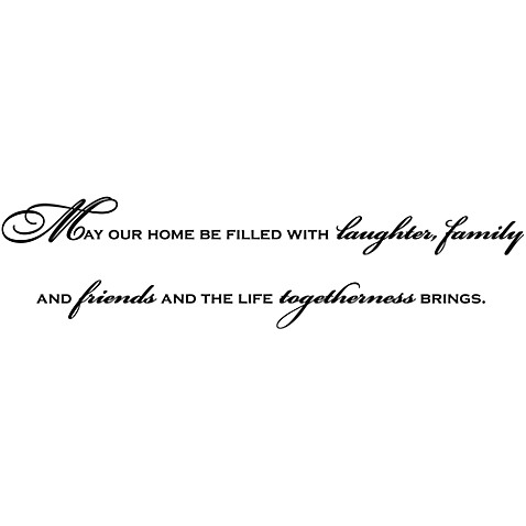 May Our Home Be Filled Vinyl Wall Decal Set
