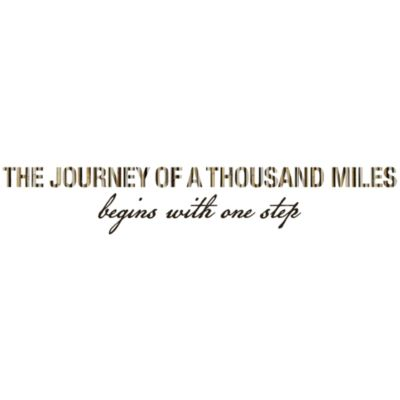 The Journey of A Thousand Miles Begins With One Step Vinyl Wall Decal Set