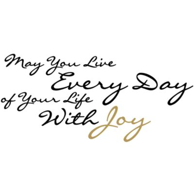 May You Live Every Day of Your Life With Joy Vinyl Wall Decal Set