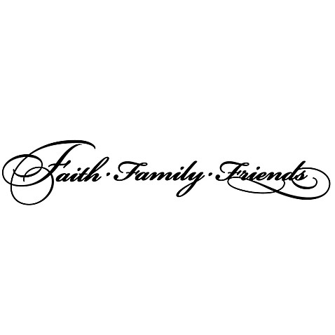 Faith Family Friends Vinyl Wall Decal Set