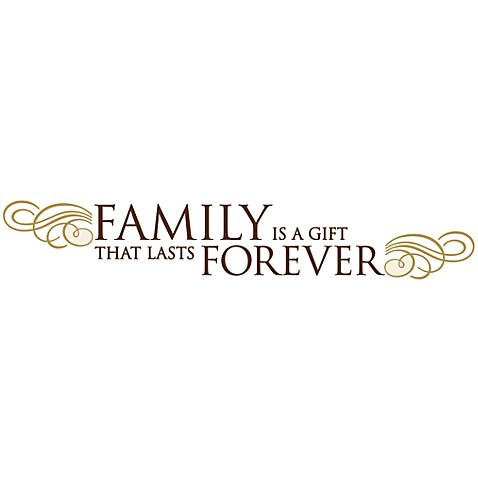 family is a gift that lasts forever vinyl wall decal set